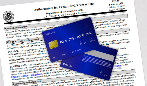 immigration filing fees credit card